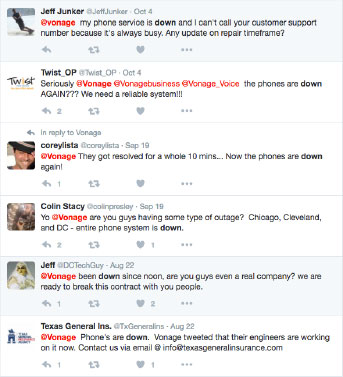 Twitter Feed - Vonage Down